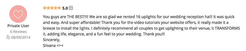 Wedding lighting review